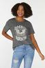 Plus Size Distressed Rock On Tee alt view