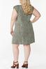 Plus Size Leopard Padded Shoulder Dress alternate view