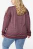 Plus Size Faith Cold Shoulder Sweatshirt alternate view