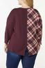 Plus Size Twisted Solid Plaid Top alternate view