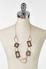 Textured Leopard Chain Necklace alternate view