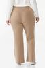 Plus Size Tan Fleece Pants alternate view