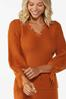 Distressed Orange Sweater alt view