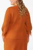 Plus Size Distressed Orange Sweater alternate view