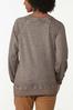 Plus Size Glittery Thankful Sweatshirt alternate view