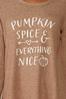 Plus Size Pumpkin Spice Everything Top alt view