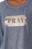 Glittery Pray Sweatshirt alt view
