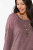 Lace Shoulder Hacci Top alt view