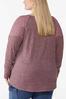 Plus Size Lace Shoulder Hacci Top alternate view