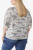 Plus Size Camo Kimono Sleeve Top alternate view
