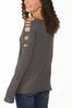 Plus Size Cutout Sleeve Waffle Top alternate view