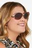 Metal Bar Aviator Sunglasses alt view