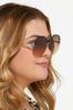Round Lens Trendy Sunglasses alt view