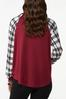Plus Size Plaid Hey Boo Top alternate view