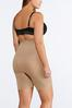 Plus Size Nude Seamless High Waist Shorts alternate view